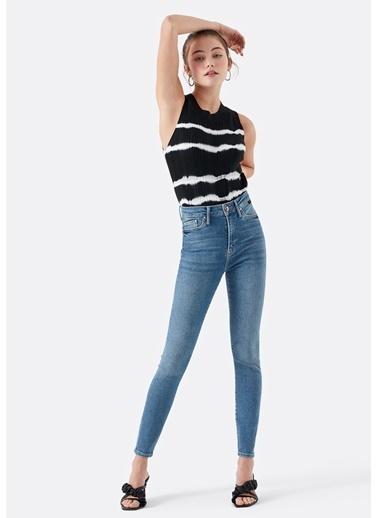 Mavi Serenay Gold Shape Mavi Jean Pantolon Mavi